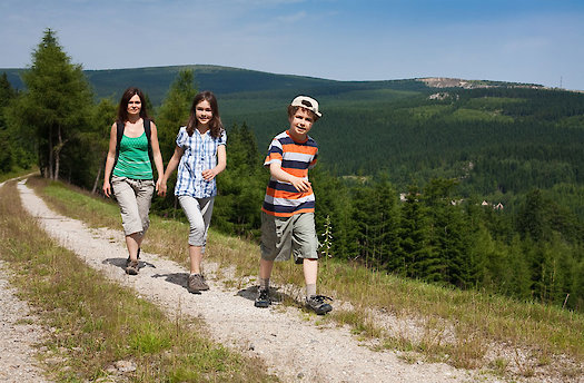 Wandern im Kindern im Bayerischen Wald